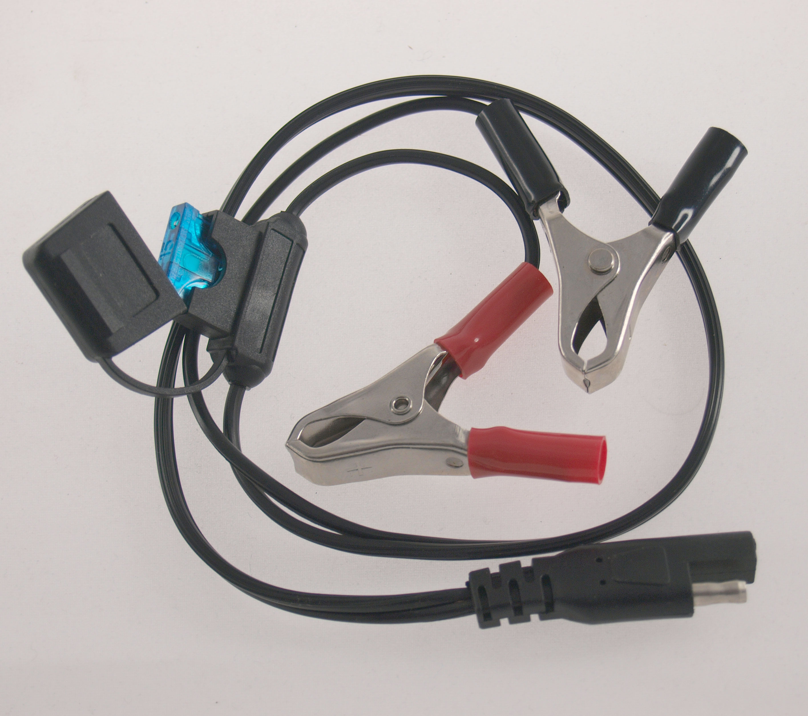 Crocodile clips to SAE plug lead for DYNAPLUG Mini Pro Inflator